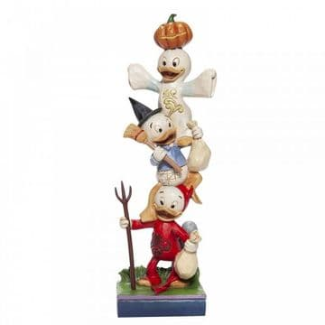 Disney Traditions 6007079 Halloween Stacked Huey, Dewey and Louie Figurine