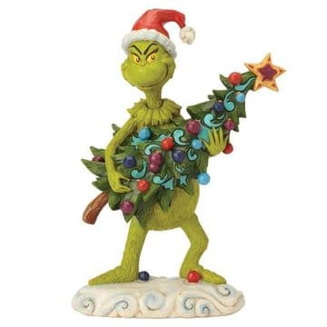 Grinch By Jim Shore 6002067 Grinch Stealing Tree Figurine PRE-ORDER