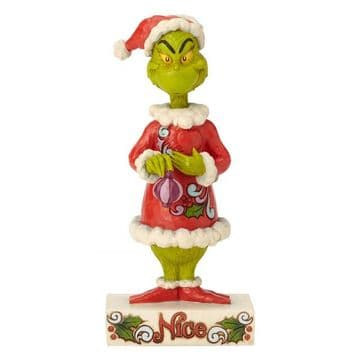 Grinch By Jim Shore 6002068 Two-sided Naughty/Nice GrinchFigurine PRE-ORDER