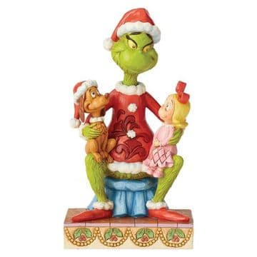 Grinch By Jim Shore 6004064 Grinch With Cindy & Max Figurine PRE-ORDER
