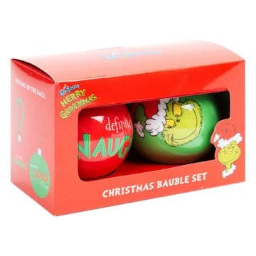 The GrinchXM7625 Set Of 2 Baubles - Naughty & Good