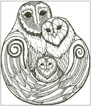 A Hug of Owls (outline only)