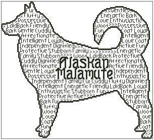 Alaskan Malamute In Words