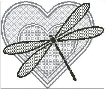 Blackwork Dragonfly