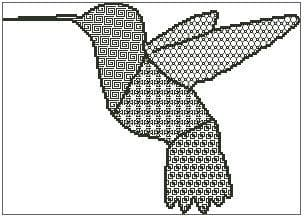 Blackwork Hummingbird