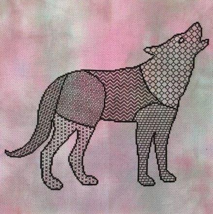 Blackwork Wolf
