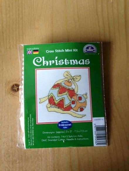 Christmas Baubles DMC Mini Kit