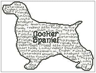 Cocker Spaniel In Words