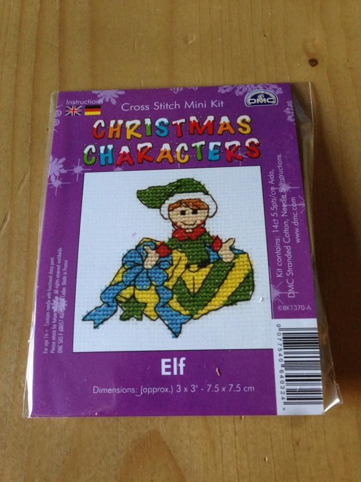 Elf Christmas Character DMC Mini Kit