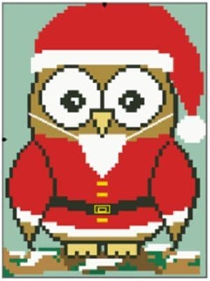 Father Christmas Ollie Owl