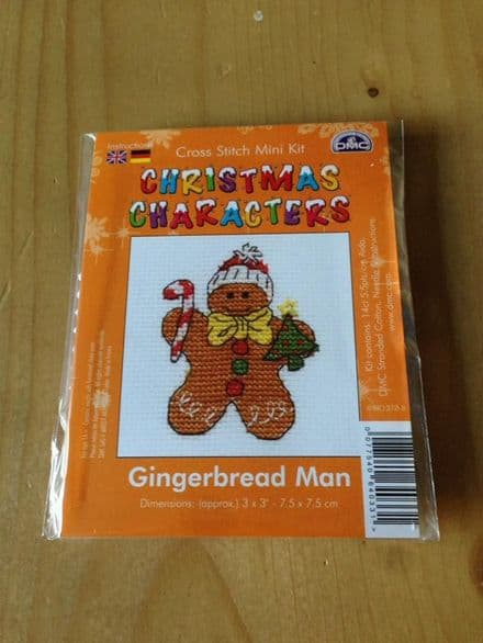 Gingerbread Man Christmas Character DMC Mini Kit