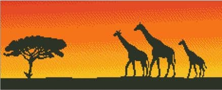 Giraffes at Sunset