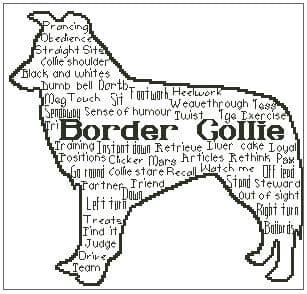 In Words Collie Personalised