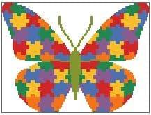Jigsaw Butterfly 2