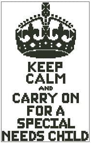 Keep Calm and Carry on for a Special Needs Child