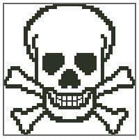 Mini Skull + Crossbones