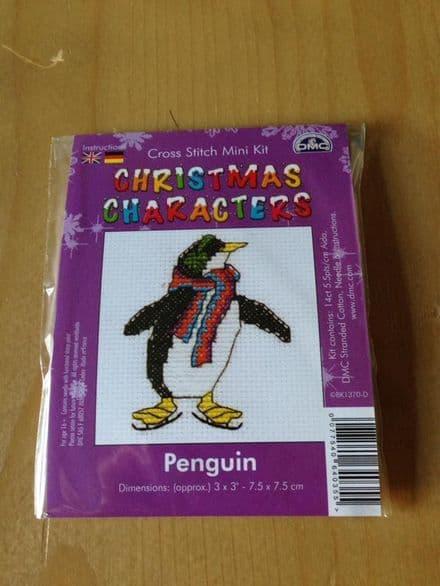 Penguin Christmas Character DMC Mini Kit