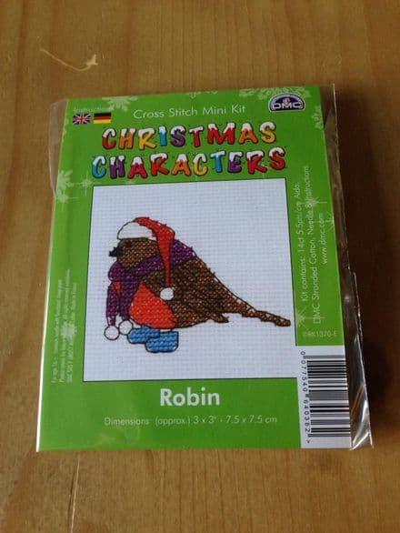 Robin Christmas Character DMC Mini Kit