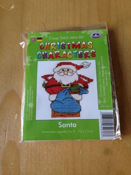 Santa Christmas Character DMC Mini Kit