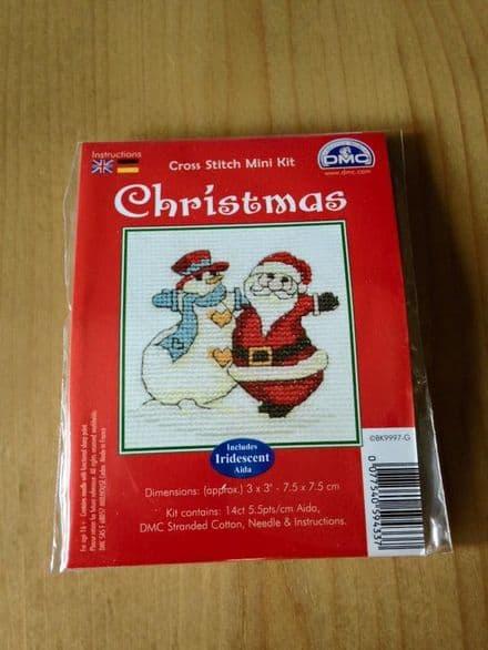 Santa & Snowman DMC Mini Kit