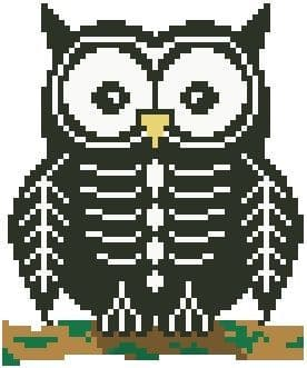Skeleton Ollie Owl