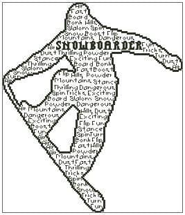 Snowboarder In Words