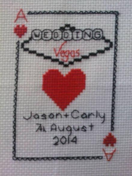 Vegas Playing Card Wedding Sampler