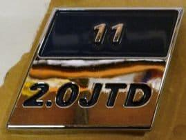 Fiat 2.0 JTD Badge 55mm x 55mm