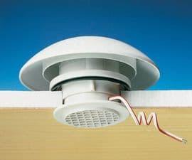 Motorhome caravan rooflight COMET Mushroom Vent Set c/w 12v Fan - L/Grey