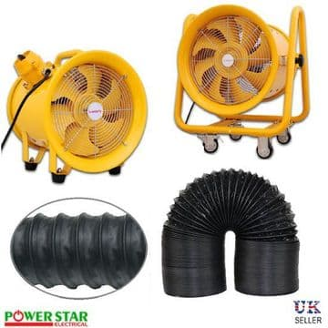 ATEX Rated  (EX) Explosion Proof Portable Axial Fan  Anti Static Flexible Air Duct