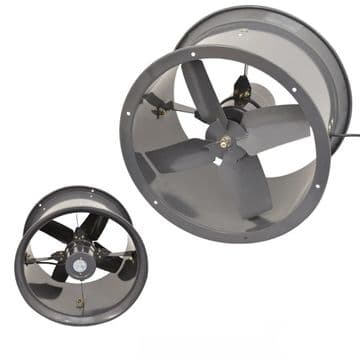 Cased Axial Extractor Fan Canopy Kitchen Restaurant Industrial Duct