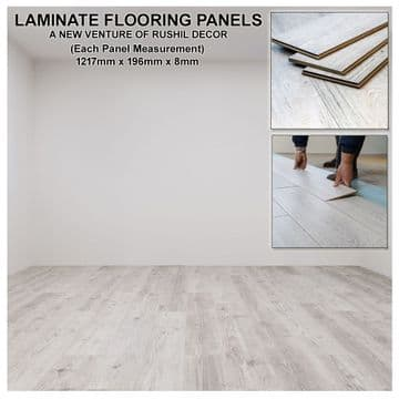 Grey Laminate Flooring Panels High Quality Luxury Effect Textured Design Waterproof