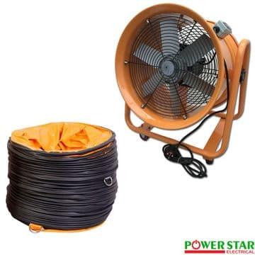 Portable Ventilator Axial Blower Ventilation Extractor Industrial Fan 16 Inches