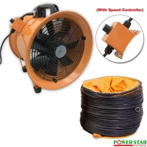 Portable Ventilation Fans with Flexible PVC Ducting