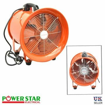 Powerstar Movable Dust Fume Extractor Ventilation Axial Blower Workshop Fan