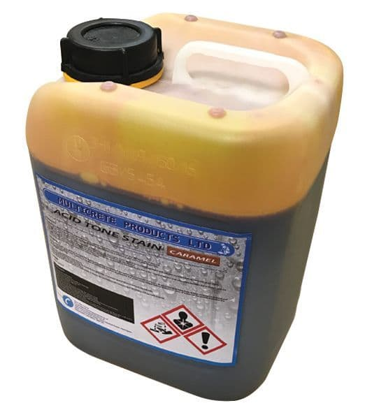 Acid Tone Stain - Caramel (5L) For Pattern Imprinted Concrete