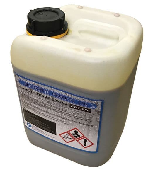 Acid Tone Stain - Ebony (5L) For Pattern Imprinted Concrete