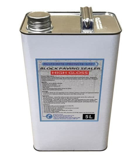 Block Paving Sealer - High Gloss (5L)