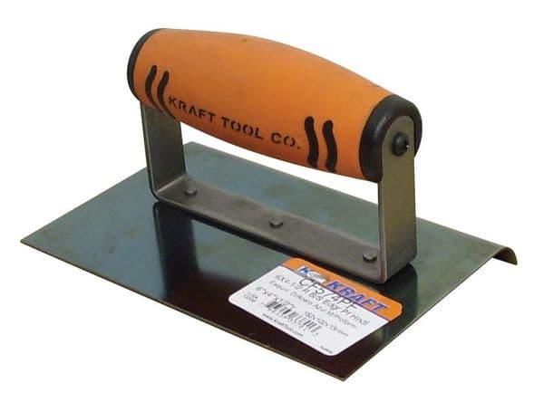 "Blue Steel Hand Edger 6"" x 4"" x 1/2"" Rad with Proform Handle - Kraft Tool"