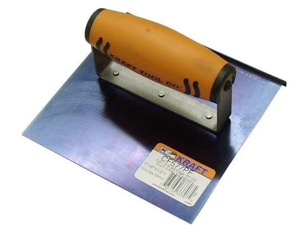 "Blue Steel Hand Edger 6"" x 6"" x 1/2"" Rad with Proform Handle - Kraft Tool"
