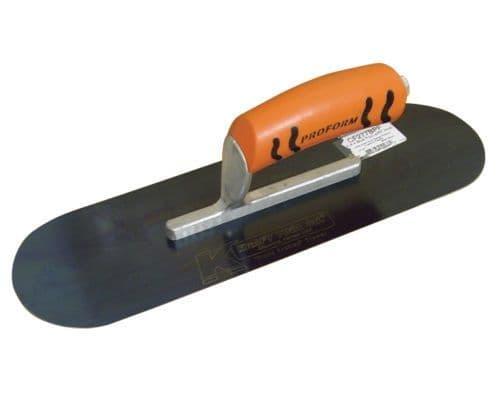 "Blue Steel Pool Trowel 14"" x 4"" (407mm x 102mm) Short Shank with Proform Handle - Kraft Tool"