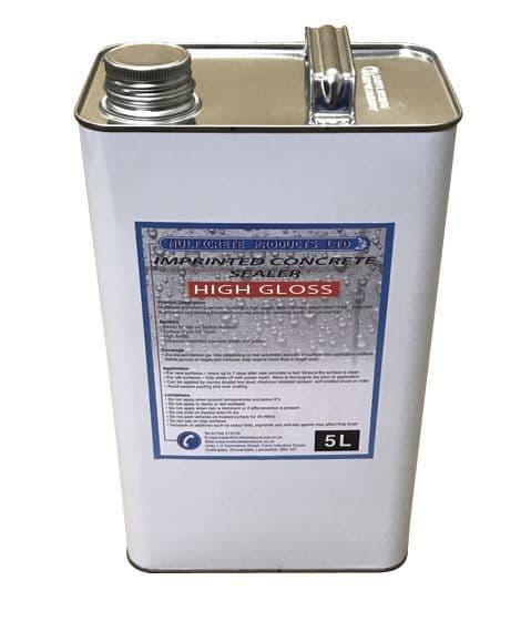 Pattern Imprinted Concrete Sealer - High Solid Gloss (5Ltr)