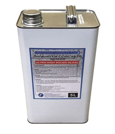 Pattern Imprinted Concrete Sealer - Ultra High Solid Gloss Sealant (5Ltr)