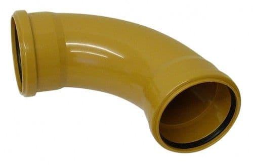 Underground Drainage Double Socket 90 Degree - 110mm