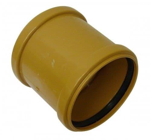 Underground Drainage Double Socket Coupler - 110mm