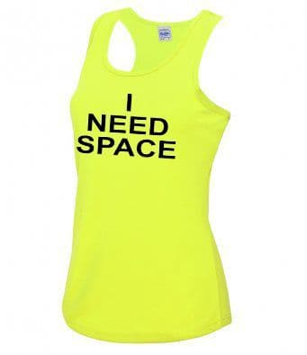 """I NEED SPACE"" technical Vest"