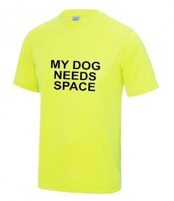 """My DOG NEEDS SPACE"" technical t-shirt"