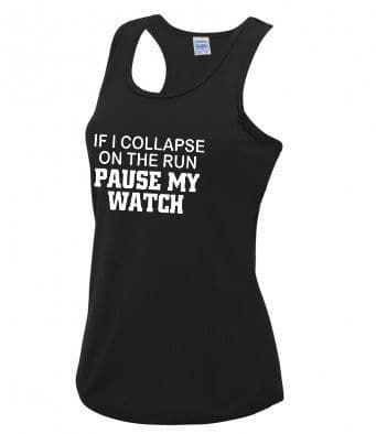 """""""Pause my watch"""" technical running vest"""
