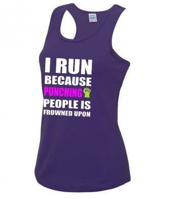 """""""Punching People"""" technical running vest"""