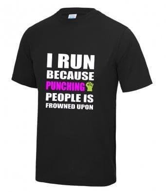 """""""Punching people"""" Unisex or Women's Tech T-shirt"""